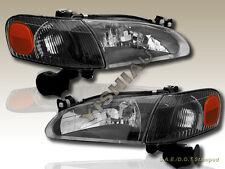 1998-2000 TOYOTA COROLLA BLACK HEADLIGHTS + CORNER 4PCS 98 99 00