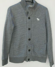 Abercrombie & Fitch Grey Sherpa Lined Sweater Jacket Size S