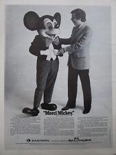 11/1974 PUB EASTERN AIRLINES WALT DISNEY DISNEYWORLD MICKEY / AEROSPATIALE AD