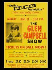 "Glen Campbell Tulsa 16"" x 12"" Reproduction promo Poster Photo"