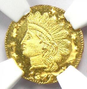 1872/1 Indian California Gold Quarter 25C Coin BG-869 - Certified NGC MS67 DPL