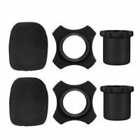 uxcell Sponge Foam Mic Cover Interview Microphone Windscreen Shield Protection Black 208mm Long