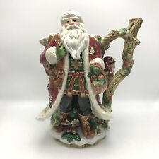 """Fitz And Floyd """"Santa Claus/Christmas Lodge"""" Large 12"""" Ceramic Pitcher, Holiday"""