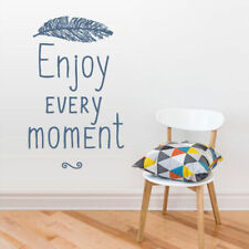 Wall Vinyl Sticker Decal Words Sign Quote Enjoy Every Moment Feather (Z2958)