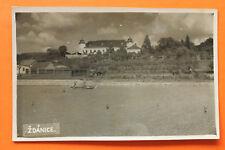 Tschechien CZ AK Zdanice Ždánice 1930-40s Ortsansicht Schloss Gebäude Boot +++