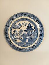 A Wedgwood Blue And White Plate In The Willow Pattern 20cm / 8 inches