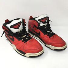 Men's Nike Air Flight Falcon Red Black White Basketball Sneaker 397204 601 10.5