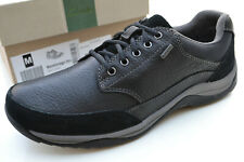 Clarks BNIB Mens Casual Plus* Shoes BAYSTONE GO GTX Black Leather UK 9.5 / 44