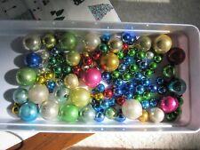 Vintage Mini Feather Tree Mercury Glass Christmas Tree Ornaments 97 Balls Lot