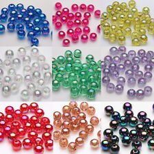 50/100Pcs Various Color Acrylic Colorful Round Spacer Beads Jewelry Making 8mm