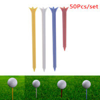"50X Golf Tees Professional Zero Friction 5 Prong 2.76"" Plastic Golf Accessories#"
