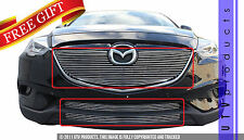 GTG 2013 - 2015 Mazda CX9 3PC Gloss Black Overlay Combo Billet Grille Grill Kit