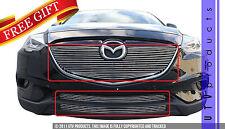 GTG 2013 - 2015 Mazda CX9 3PC Polished Overlay Combo Billet Grille Grill Kit