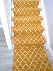 New Dark Yellow Stair Carpet Runner Rugs Very Long Length Good Quality And Cheap