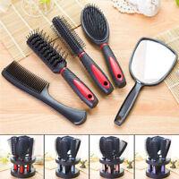 Plastic Salon Hair Comb And Mirror Set Hair Brush Massage Comb Mirror Holder