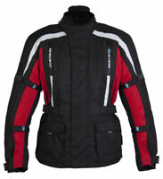 SPADA CORE RED ABRASION RESISTANT WATERPROOF THERMAL MOTORCYCLE MOTORBIKE JACKET