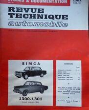 Revue technique SIMCA 1300 1301 ( Jusqu'à DECEMBRE 1969 ) RTA CIP 1972