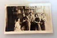 Antique Eastman Kodak Co. RPPC Photo Post Card Teens Saloon School Play Cast?