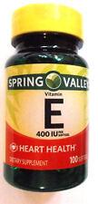 Spring Valley Heart/Immune Health 400 IU Pills Vitamin E 100 Softgels