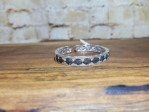 STERLING SILVER & DIAMOND BENGLE: NEW WITH TAGS: SEE PICS