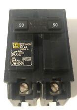 Square D 50 Amp 2 Pole Circuit Breaker Homeline Hom250