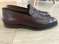 Crockett & Jones for Kilgour Dark Brown Loafers Leather Men's Shoes UK 8.5 E
