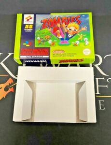 Zombies - SNES Super Nintendo - EMPTY REPRODUCTION REPLACEMENT BOX & INSERT