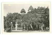 RPPC Lake County Courthouse CROWN POINT IN Indiana Real Photo Postcard