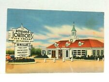 Howard Johnsons Restaurant Linen Vintage Postcard