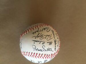 1985 Atlanta Braves Facsimile Signed Team Ball.  Dale Murphy, Bruce  Sutter