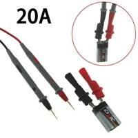 1000V 20A Digital Multimeter Test Lead Probe Pen Cable  + Alligator Clips Clamps