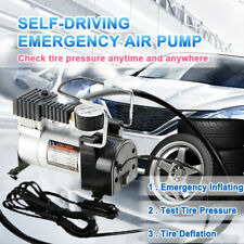 12V Heavy Duty Portable Air Compressor 100psi Car Van Tyre Tire Inflator Pump