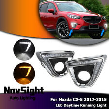 LED Tagfahrlicht Lampen 7-shaped DRL Yellow Turn Licht Für Mazda CX-5 2012-2015