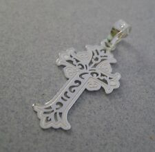 925 Silver Taxco CROSS Delicate Cut Out Filigree Swivels Religious Shiny Pendant