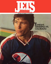 Winnipeg Jets First Home Game (Oct. 14, 1979) Program Cover, 8x10 Color Photo
