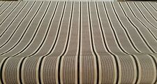 "Mill Creek Colonnade Jet black/gold stripe Jacquard fabric 57"" width 10yds BTY"