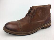 CLARKS MENS CLARKDALE JEAN - DARK TAN LEA dress Ankle boots leather 11.5 M