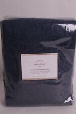 Pottery Barn Emery blackout rod pocket drape panel 50x108, midnight denim
