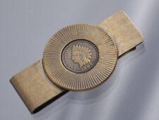 S5729M Vintage 1905 Money clip with US 1 cent bronze coin