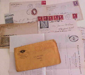 US  5 DIFF.  PICTORIAL AD COVERS WITH 4 LETTERS 1886-1924