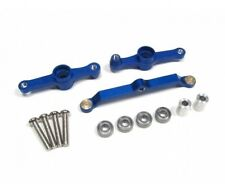 TAMIYA DF-02 DF02 STEERING ASSEMBLY CNC ALUMINIUM ALLOY BLUE by Blitz