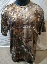 Real Tree Xtra Dri-More Camouflage/Hunting Light T-Shirt-Brown/Green-Large 42/44
