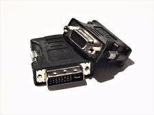 DVI-I 24+5 zu/auf VGA Digital & Analog Adapter D-Sub PC Monitor Beamer Buchse SW