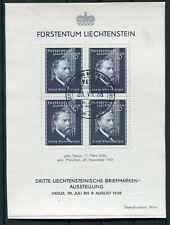 Lichtenstein Block 3 gestempelt