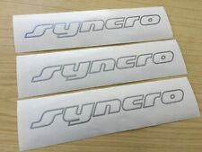 VW T4 Transporter 4x4 Camper 3x Syncro Stickers Decals in Silver