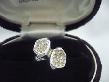 White gold plated bow shape ring size 7 numerous clear white rhinestones