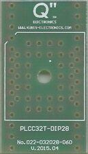 """Adaptateur PCB PLCC32T à DIP28 0.6"""". [FR]"""
