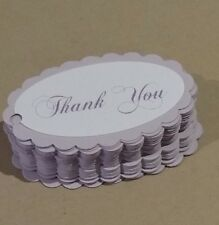"""""""Thank you birthday """" lilac"""" gift tags,Pk50.  All occasions"""