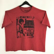 Mens Jimi Hendrix At The Los Angeles Forum Band Tee Lightly Distressed
