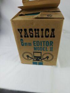 Yashica Editor 8mm Movie Film Model 11 Japan With Orig Box Electronics...